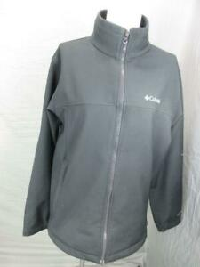 COLUMBIA SIZE M MENS BLACK FULL ZIP SIDE POCKETS OUTDOOR SOFTSHELL JACKET T908