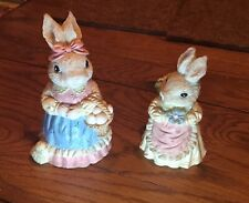 Spring Bunny/ Mom & Daughter bunny Figurines Poly Resin Easter (Approx 3 Inch)