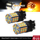 Syneticusa 3157 Led Switchback White Amber Turn Signal Drl Parking Light Bulbs