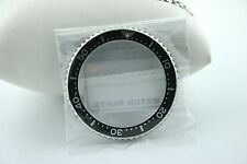 SEIKO GENUINE BEZEL - PART #8601469D - STAINLESS STEEL/BLACK - FOR SKX173 - NEW