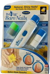 NEW PedEgg Bare Nails Electronic Nail Care System - Buff & Shine Nails