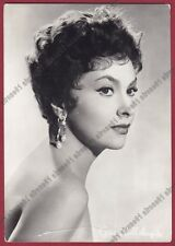 GINA LOLLOBRIGIDA 37a ATTRICE ACTRESS CINEMA MOVIE Cartolina fot. PIEGA CREASE !