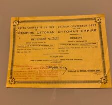 TURQUIE EMPIRE OTTOMAN DETTE CONVERTIE UNIFIEE 24 Août 1922