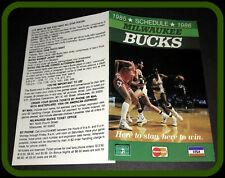 1985-86 MILWAUKEE BUCKS MASTERCARD VISA BASKETBALL POCKET SCHEDULE FREE SHIP