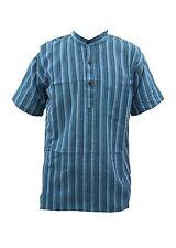 Men's Striped Grandad Casual Shirts & Tops