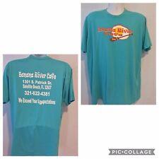 Banana River Cafe Satellite Beach Florida Adult XL Tee Shirt Teal (35)