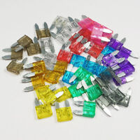 50 Piece Mini Blade Fuse Assorted Kit Mixed Car Van Bike Amp Amps A