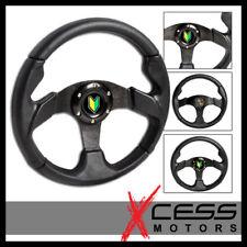 Fits 280MM JDM Black Steering Wheel 6 Hole Bolt On