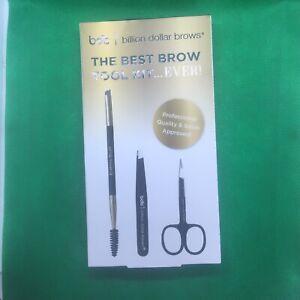 BDB Billion Dollar Brows The Best Brow Tool Kit NewInBox.Scissors+Tweezer+Brush