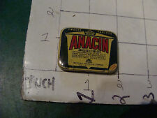 Vintage item: early small ANACIN Analgesic tablets METAL TIN, early advertising