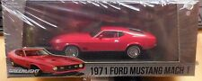 Green Light 1:43 Scale 1971 Ford Mustang Mach 1 Red