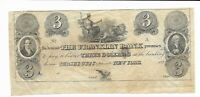 1827 $3 New Jersey Franklin Bank fine  Rare Obsolete Currency Note remainder