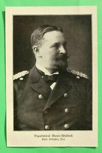 UM1) Marine Vizeadmiral Meyer Waldeck 1914-1918 Kiautschou China Kolonie 1.WK WW