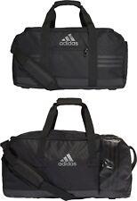 Adidas Team Duffel Bag 3stripes Sport Training Football Gym Black