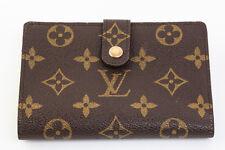 Authentic Louis Vuitton Monogram Viennois Bifold Kisslock Wallet M61663 #7666