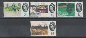 Great Britain Sc 410p-413p MLH. 1964 Geographical Congress Phosphorescent cplt