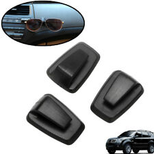 3pcs Self Adhesive Hooks BLACK Strong Square Stick Sticky on Hook Center console