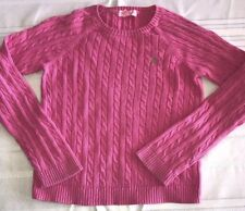 Lilly Pulitzer Girls Solid Pink Cable Knit Sweater Size 8