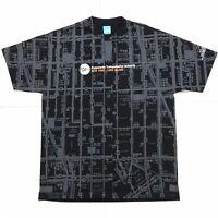 VTG Y2K POPS NEW YORK LONG ISLAND PUBLIC TRANSIT MAP ALL OVER PRINT T SHIRT L