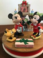 "Disney Christmas 1986 Figurine in ""Mistletoe Magic"" LIMITED EDITION Mickey Mouse"