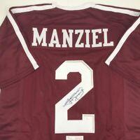 Autographed/Signed JOHNNY MANZIEL Texas A&M Maroon Football Jersey JSA COA Auto