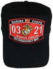 USMC MARINE CORPS 0321 RECONNAISSANCE MAN HAT CAP MOS SEMPER FI RECON SCOUT BRC