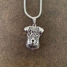 """Parsons Russell Dog Pendant With 18"""" Silver Necklace & Free Gift Bag"""