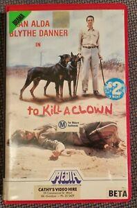 TO KILL A CLOWN 70s Horror MEDIA BETA Video Classics Alan Alda Blythe Danner