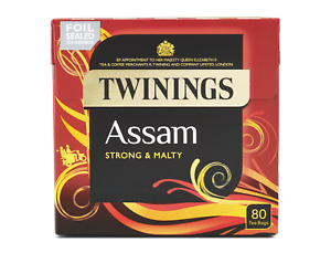2 boxes Twinings Assam Strong and Malty 80 TeaBags per Box NEW PACKAGING