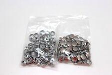 Us Military Dot Nickel Steel Snap Cap and Socket lot of 200pcs R1530