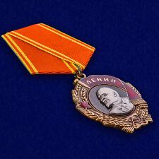 USSR AWARD ORDER MEDAL - Order of Lenin (with ribbon) - mockup