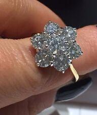 SALE 18CT YELLOW GOLD DIAMOND CLUSTER RING 2.62CT GI1 DIAMOND LADIES RING GOY491