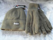 Thinsulate Insulation 3M Hat & Gloves Set Green Fishing Walking Hiking ect ~ New