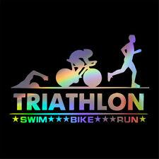 2Pcs Triathlon Swim Bike Run Vinyl Decal Car Truck Window Bumper Window Sticker