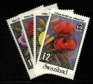 Swaziland  Scott 523-26  Orchids, Flowers , plants Nint NH set