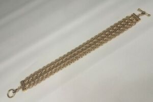 Samurai-Style Chainmaille Bracelet in Nugold Brass, 8.75 Inches Long