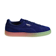 Puma Suede Summer Nights Fade Men's Shoes Blue-Silver 366095-03