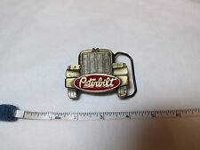 Peterbilt belt buckle GOLD rare truck front grill red 1987 1852 vintage Men's