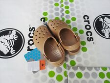 CROCS KIDS CLASSIC CAYMAN SANDAL SLIP ON SHOE~Gold Yellow~Toddler C10/11~NWT