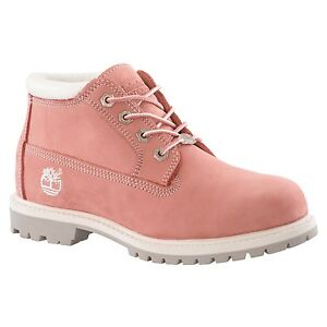 Timberland Women's Waterproof Nellie Chukka Double Sole 23308 Pink All Sizes
