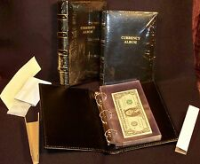 Lighthouse Brand Black Currency Album 20 Individual Pocket Pages 8 1/2 x 5 3/4""
