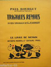TRAGIQUES REMOUS PAUL BOURGET ILL.JEANNIOT LIVRE DE DEMAIN 27