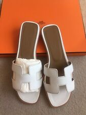 Hermes White leather sandals EU 37 brand new