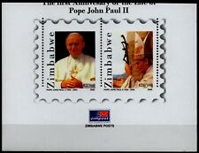 ZIMBABWE 2006 - Pope John Paul II s/sheet part imperforate SGMS1187 MNH (Br1372)