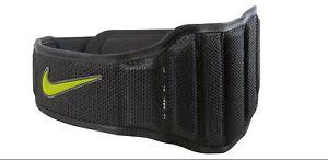 NWT NIKE Structured Lifting Belt 2.0 Size XL XLarge Black Volt FREE SHIPPING