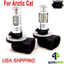 NEW For Arctic Cat Snowmobiles 80W LEDs Super White Headlights Bulbs 2PCS
