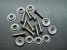 "10 pcs #8 x 3/4"" stainless kick panel door interior trim screws washers Ford"