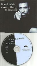 LIONEL RICHIE Closest thing to heaven EUROPE PROMO DJ CD Single USA SELLER 1998