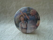 Button Pin Badge Bat Painting Ceicly Mary Barker Illustrated Tin