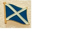 GOLD SOTLAND FLAG ENAMEL PIN BADGE